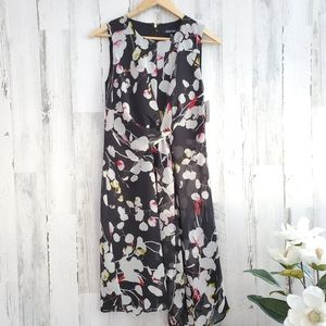 Ellen Tracy Crepe Floral Dress
